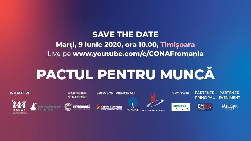 PACTUL PENTRU MUNCĂ: ÎMPREUNĂ RECONSTRUIM ROMÂNIA!
